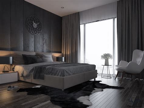 bedroom and living room in one space los angles villa minotti interior design on behance