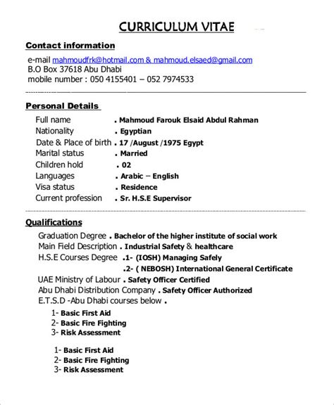Resume Template For Construction Supervisor by 10 Construction Resume Exle Pdf Doc Free