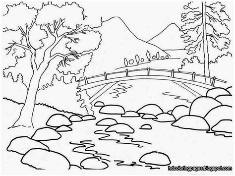 drawing pages scenery drawing for colouring drawing of sketch