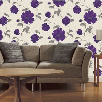 purple flower wallpaper for living room 45 best images about fabulous florals on tea roses products and grey wallpaper