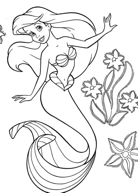 little mermaid easter coloring pages disney coloriages la petite sirene