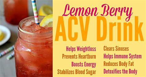 Berry Apple Cider Vinegar Detox Drink by Surprising Health Benefits Of Organic Apple Cider Vinegar