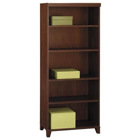 bush tuxedo 5 shelf bookcase in hansen cherry wl21465