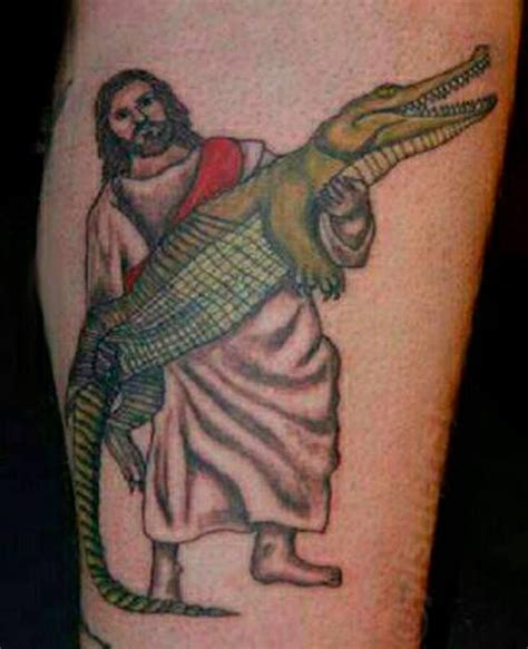 tattoo hand jesus 14 awesome crocodile tattoo images pictures and ideas