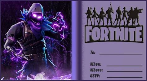 blank fortnite invitation card  invitations