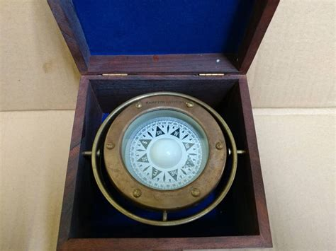 terrasse w co compass buy antique brass gimbal compass w rosewood box 5 inch