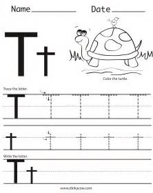 letter t tracing worksheet boxfirepress