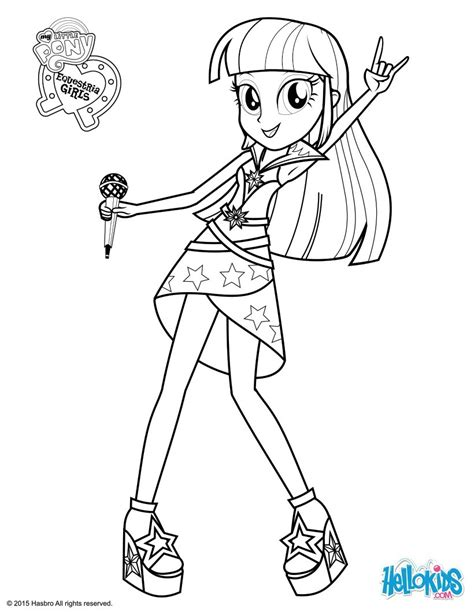 twilight sparkle sings coloring pages hellokids com