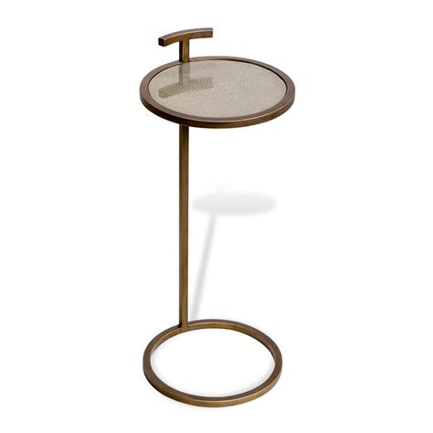 drink table for interlude 159071 soren shagreen circular drink table the