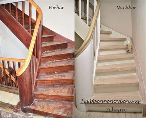 Flur Mit Holztreppe Neu Gestalten by Treppenrenovierung Holztreppe Treppen Renovierungen Schran