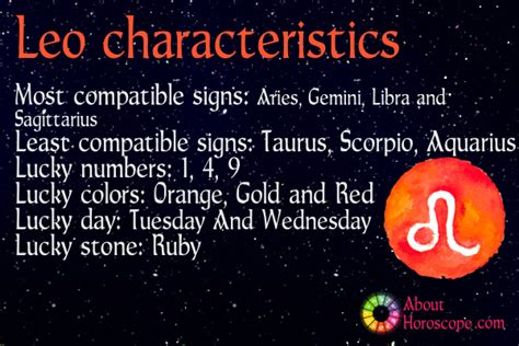 leo traits personality and characteristics