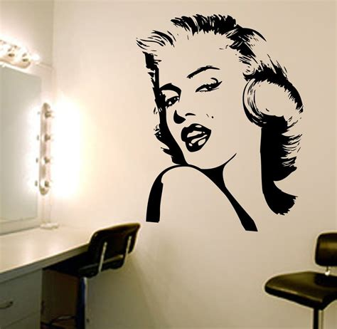 marilyn stickers for walls marilyn wall decal wall decals wall