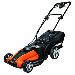 push lawn mowers at home depot worx 17 in 24 volt walk cordless electric push