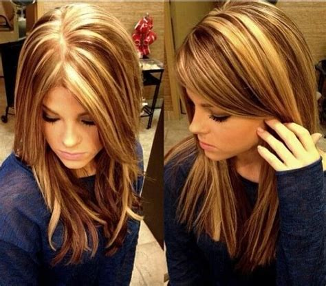 blonde and lowlights for medium straight hair 15 pretty hairstyles for medium length hair page 2 of 5