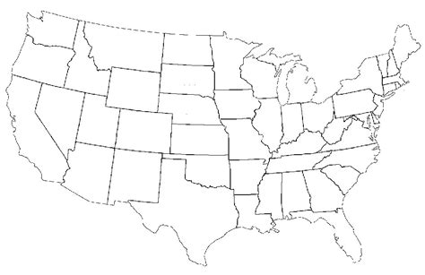 usa map states blank this is what happens when americans are asked to label