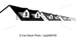 Dormer Houses Eps Vectors Of Home Row Houses Border With Dormer Roof