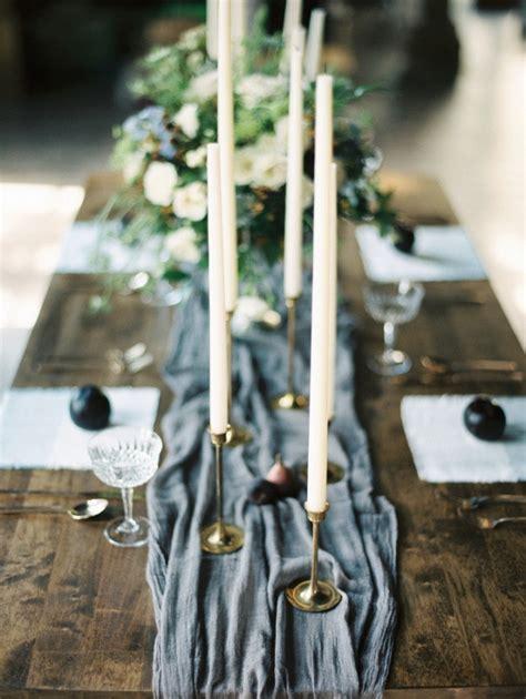 grey table runner wedding grey table runner aisle society