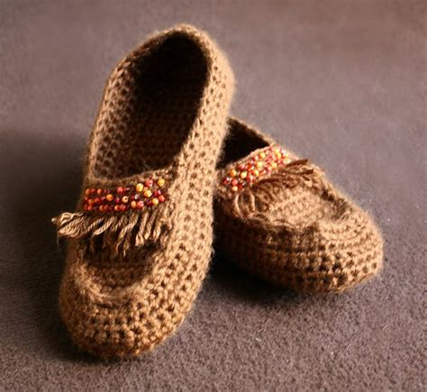 crochet moccasin slippers macusin style crochet slippers moccasin style house