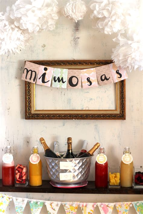 wedding bathroom decorations mimosa bar how to and shopping list