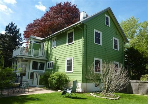 green colored houses white to green exterior before after maria killam