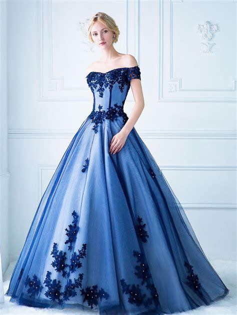 inkxlenses royal blue wedding dresses  wedding
