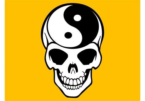 yin  skull vector   vector art stock
