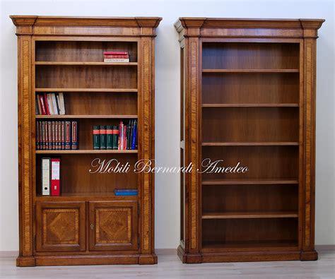 libreria noce librerie in noce intarsiato librerie