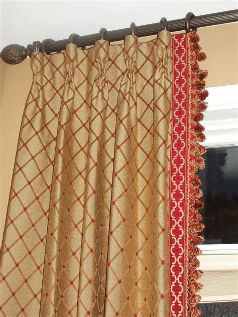 Decorative Trim For Curtains 1000 Images About Drapes On Fringe Braid Chain Links And Fabrics