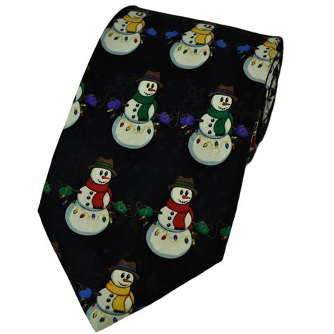 snowman christmas tree lights novelty tie from ties