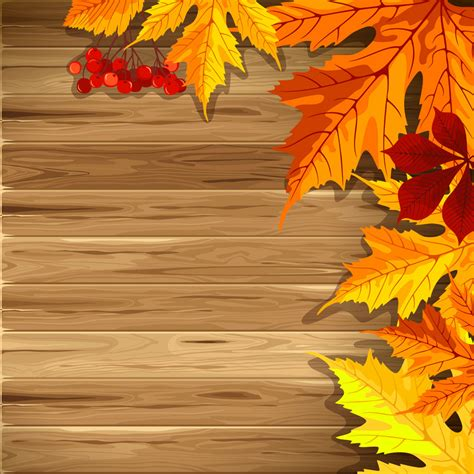 Wooden Fall Background With Leaves Gallery Yopriceville High Quality Images And Transparent Free Autumn Powerpoint Templates