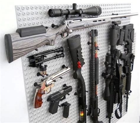 Pegboard Gun Rack by Gun Rack Safe Room The O Jays Guns And