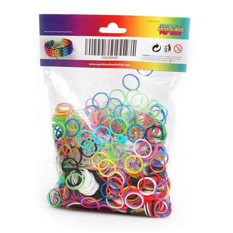 Loom Bands Refill 1000 pcs rainbow loom rubber bands refill world s best