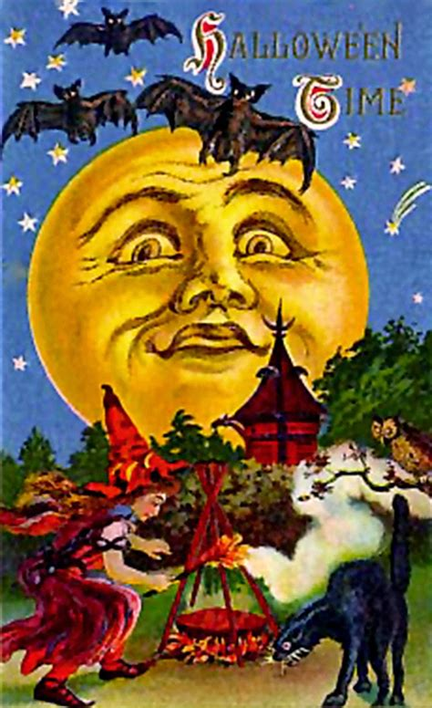 printable halloween vintage postcards digital printables free victorian halloween postcard images