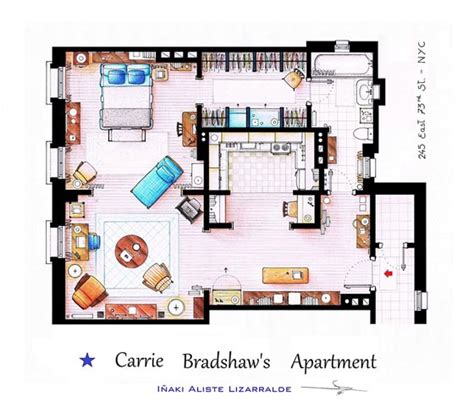 interesting detailed floor plans of tv shows by