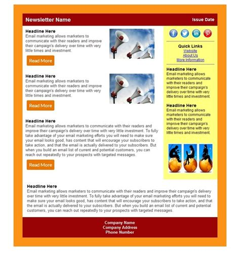 newsletter layout generator html craigslist templates html newsletter templates