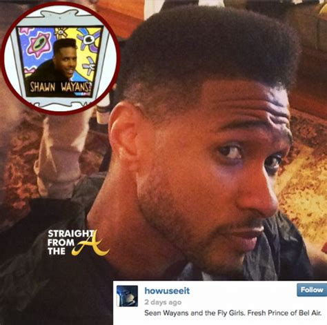 ushers haircut 2014 new doo alert usher raymond sheds his baby fro for