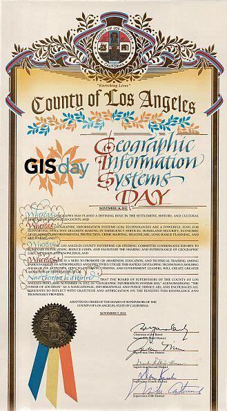 la county 2011 gis day proclamation los angeles county enterprise gis