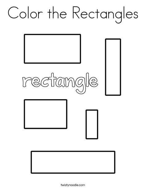 color the rectangles coloring page twisty noodle