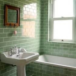 glass subway tile bathroom ideas attractive green bathrooms decozilla