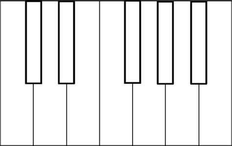 piano template blank piano clip at clker vector clip