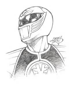 White Power Ranger Drawing Sketch Coloring Page sketch template