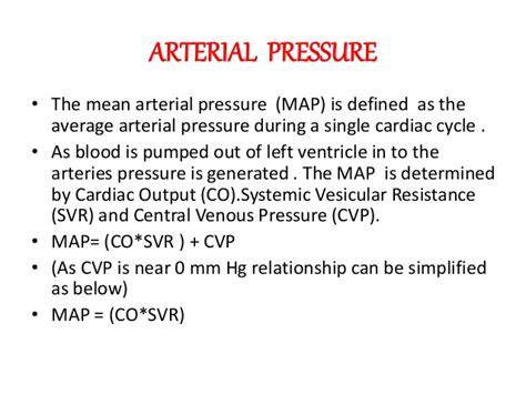 map formula arterial pressure