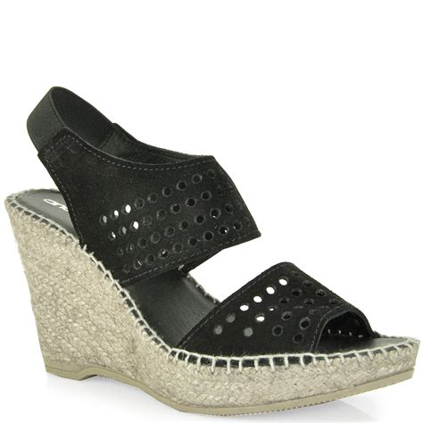 Wedges Sleting Black lyst andre assous cut out slingback wedge espadrille in black
