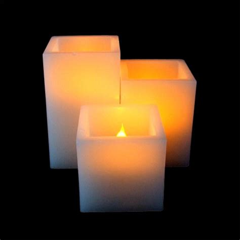 square pillar led candle