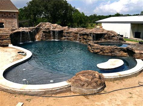 eye catching and cool ideas of pool design for backyard pool designs with rock slides most seen images in the eye