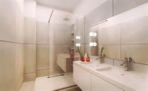 amenagement d une salle de bain blanc et creme karine perez