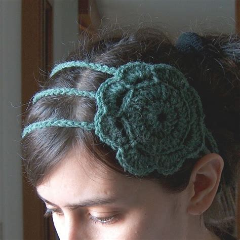 free crochet pattern flowers headbands headband with flower free pattern crochet headbands