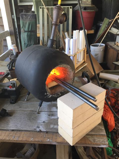 Handmade Forge - 12 propane forge for blacksmithing the self