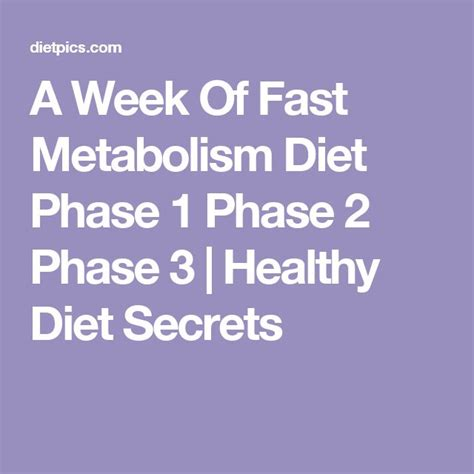 Detox Smoothie Fast Metabolism Diet by 25 Best Ideas About Metabolic Diet On Fast