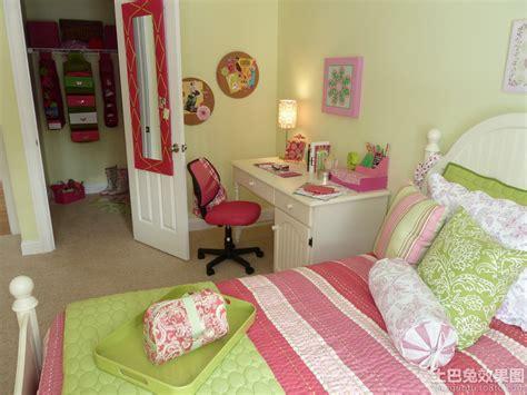 pink green girls bedroom 女儿童房间装修效果图 儿童房间装修效果图 儿童房间布置效果图 鹊桥吧